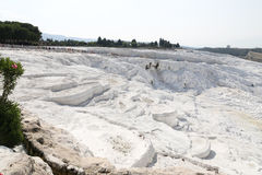 Travertines in Pamukkale Royalty Free Stock Images