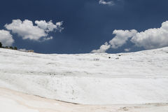 Travertines in Pamukkale Stock Photo
