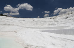 Travertines in Pamukkale Royalty Free Stock Photography