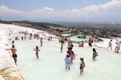 Travertines in Pamukkale Royalty Free Stock Photo