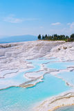 Travertines in Pamukkale, Turkey Royalty Free Stock Photos