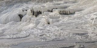 Travertineterrasser, Pamukkale, Turkiet Royaltyfria Bilder