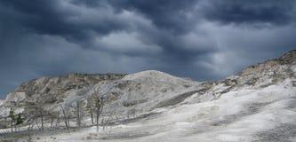 Travertino, Yellowstone, los E.E.U.U. Foto de archivo libre de regalías