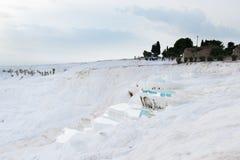 Travertinpools in Pamukkale, die Türkei Lizenzfreies Stockbild