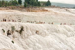 Travertinterrassen bei Pamukkale Stockfoto