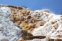 Travertinterrassen in Yellowstone Nationalpark Lizenzfreie Stockfotografie