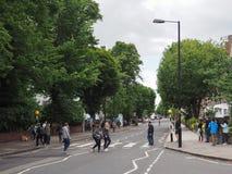 Travesía de Abbey Road en Londres Foto de archivo libre de regalías