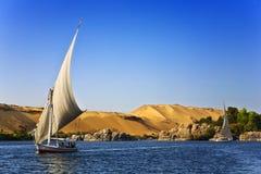 Travesía de Felucca el Nilo Imagen de archivo libre de regalías