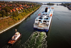 Travesía de Kiel Canal imagen de archivo libre de regalías