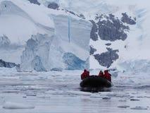 Travesía de la Antártida Fotos de archivo libres de regalías