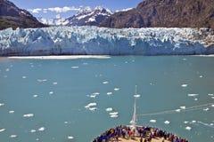 Travesía de la bahía de glaciar Fotografía de archivo
