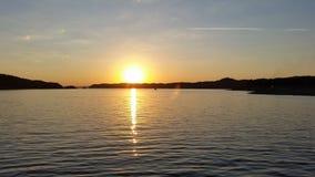 Travesía de la puesta del sol Fotos de archivo