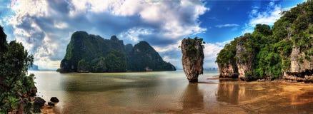Travesía de Phuket Tailandia a James Bond Island fotografía de archivo