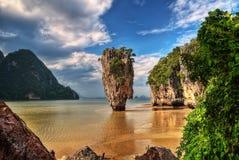 Travesía de Phuket Tailandia a James Bond Island imagen de archivo