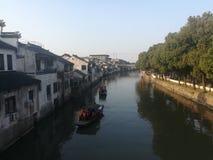 Travesía de Qiandeng Watertown Fotos de archivo libres de regalías