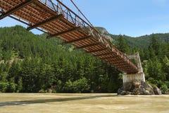 Travesía de río de Fraser, puente histórico de Alexandra Foto de archivo