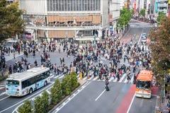 Travesía de Shibuya Foto de archivo