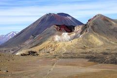 Travesía de Tongariro - isla del norte, Nueva Zelandia Imagen de archivo