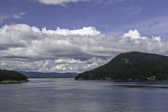 Travesía de Vancouver a Victoria Island Foto de archivo