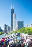 Travesía del barco de Chicago imagenes de archivo