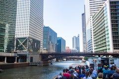 Travesía del barco de Chicago fotografía de archivo