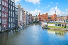 Travesía del embarque en el canal de Amsterdam Imagenes de archivo