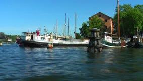 Travesía del mar en Estocolmo, Suecia metrajes