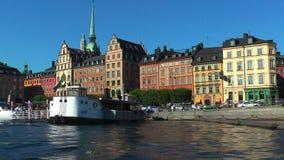 Travesía del mar en Estocolmo, Suecia almacen de metraje de vídeo