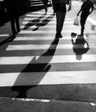 Travesía del paso de peatones Foto de archivo libre de regalías