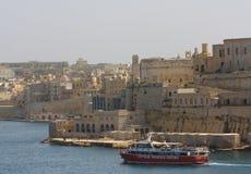 Travesía del puerto, La Valeta, Malta Imágenes de archivo libres de regalías