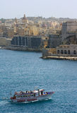 Travesía del puerto, La Valeta, Malta Imagen de archivo