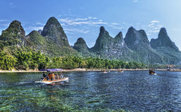 Travesía del río de China Guilin Li Fotografía de archivo libre de regalías