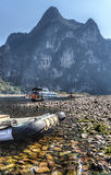 Travesía del río de China Guilin Li foto de archivo
