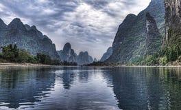 Travesía del río de China Guilin Li imágenes de archivo libres de regalías