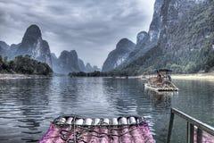 Travesía del río de China Guilin Li Fotografía de archivo