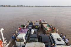 Travesía el río Mekong Fotos de archivo libres de regalías