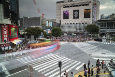 Travesía famosa del despegue en tiempo mínimo en Tokio imagen de archivo