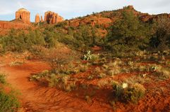 Travesía roja de la roca Fotografía de archivo libre de regalías