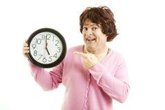 Travestido - O-Reloj cinco Imagen de archivo