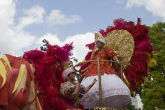 Travestietmens bij de Notting-Heuvel Carnaval Stock Foto