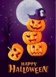 Travestimento di Halloween, costumi svegli dei bambini Caratteri divertenti Carta dell'invito per il partito e la vendita Feste d fotografie stock