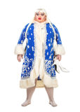 Travesty Actor Genre Depict Snow Maiden. On white background Stock Photography