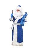 Travesty Actors Genre Depict Santa Claus. On white background Stock Image