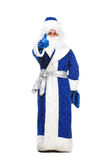 Travesty Actors Genre Depict Santa Claus. On white background Stock Photography