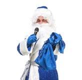 Travesty Actors Genre Depict Santa Claus. On white background Stock Images