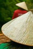Travi di bambù del fiume Fotografia Stock Libera da Diritti