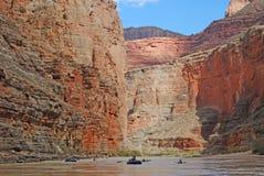 Travi sul fiume Colorado in Grand Canyon fotografia stock libera da diritti