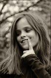 Travieso mirada de la muchacha Imagen de archivo libre de regalías