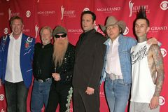Travis Barker, Chris Hillman, Billy gibony, Vince Vaughn, Dwight Yoakam obraz stock