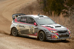 Travis Pastrana racing in Rally America Stock Image